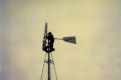 Ray-R.-Domer-working-on-a-windmill-in-the-1980s
