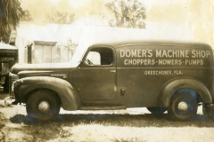 Domer's service truck in the 1940s