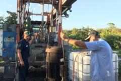 Turbine-repair-in-a-citrus-grove